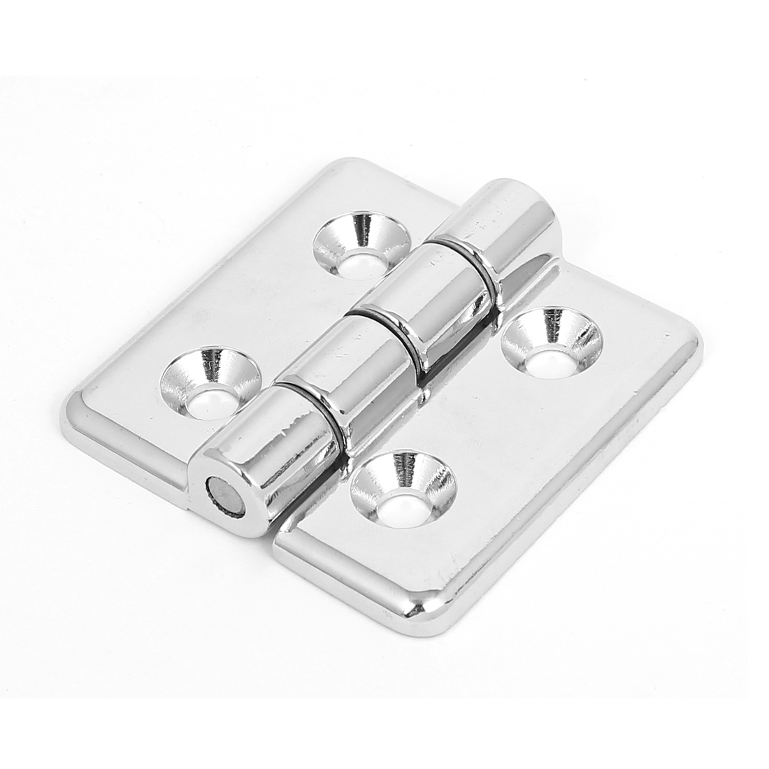 60mm x 60mm 2 Leaves Reinforced Metal Bearing Butt Hinge Silver Tone