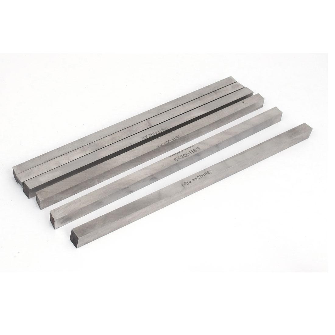 High Speed Steel CNC Lathe HSS Square Cutting Tool Bits Bar 8x8x200mm 6pcs