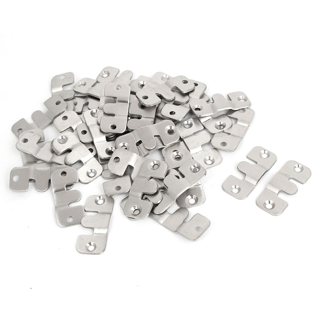 Stainless Steel Universal Sectional Photo Frame Couch Sofa Connector Bracket 40pcs