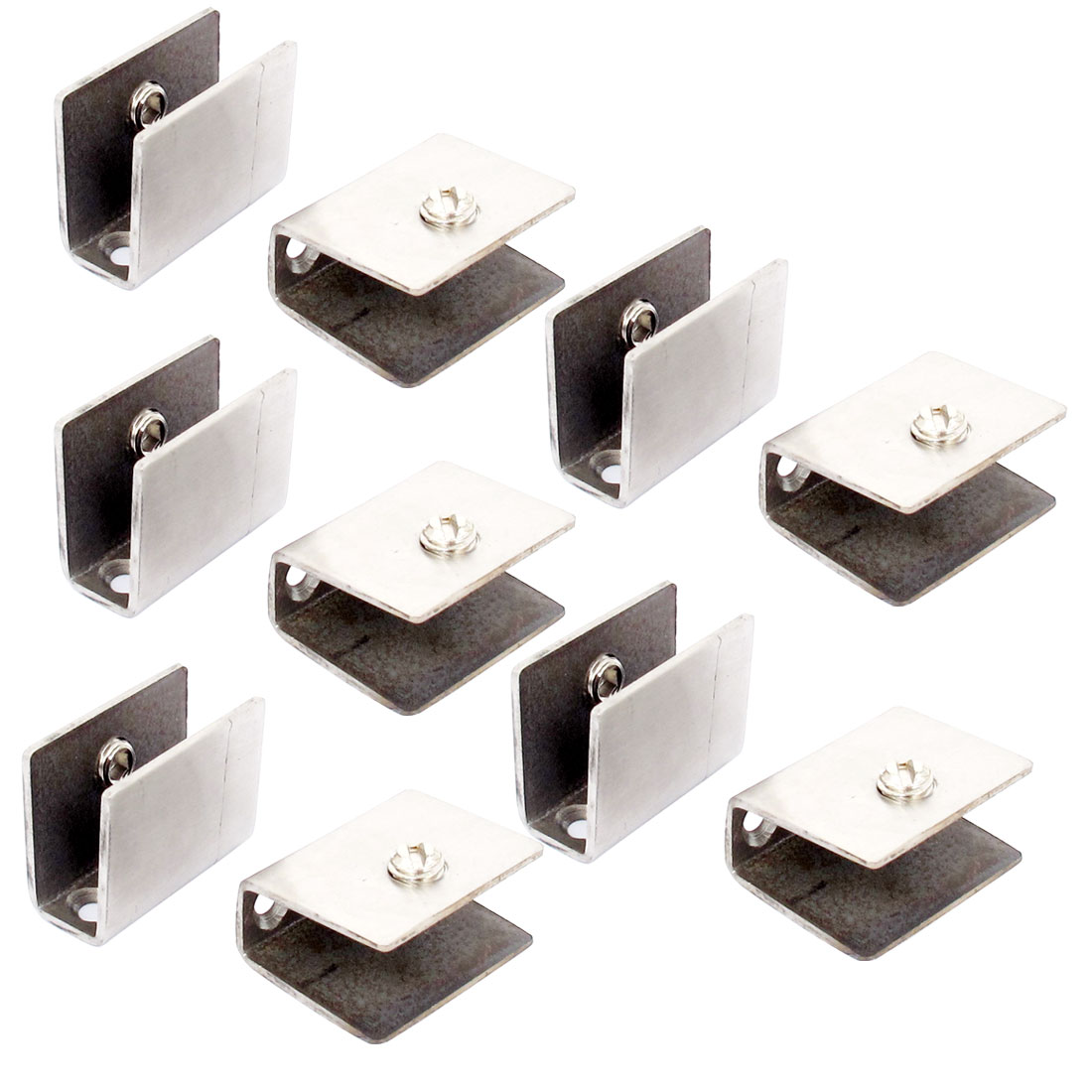 11mm-13mm Thickness Adjustable Rectangle Style Glass Clip Clamp 10pcs