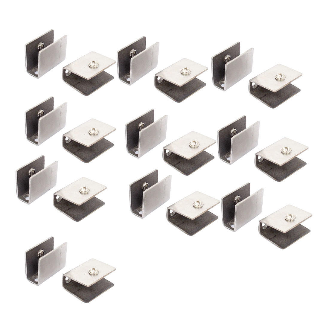 10mm-12mm Thickness Adjustable Rectangle Style Glass Clip Clamp 20pcs