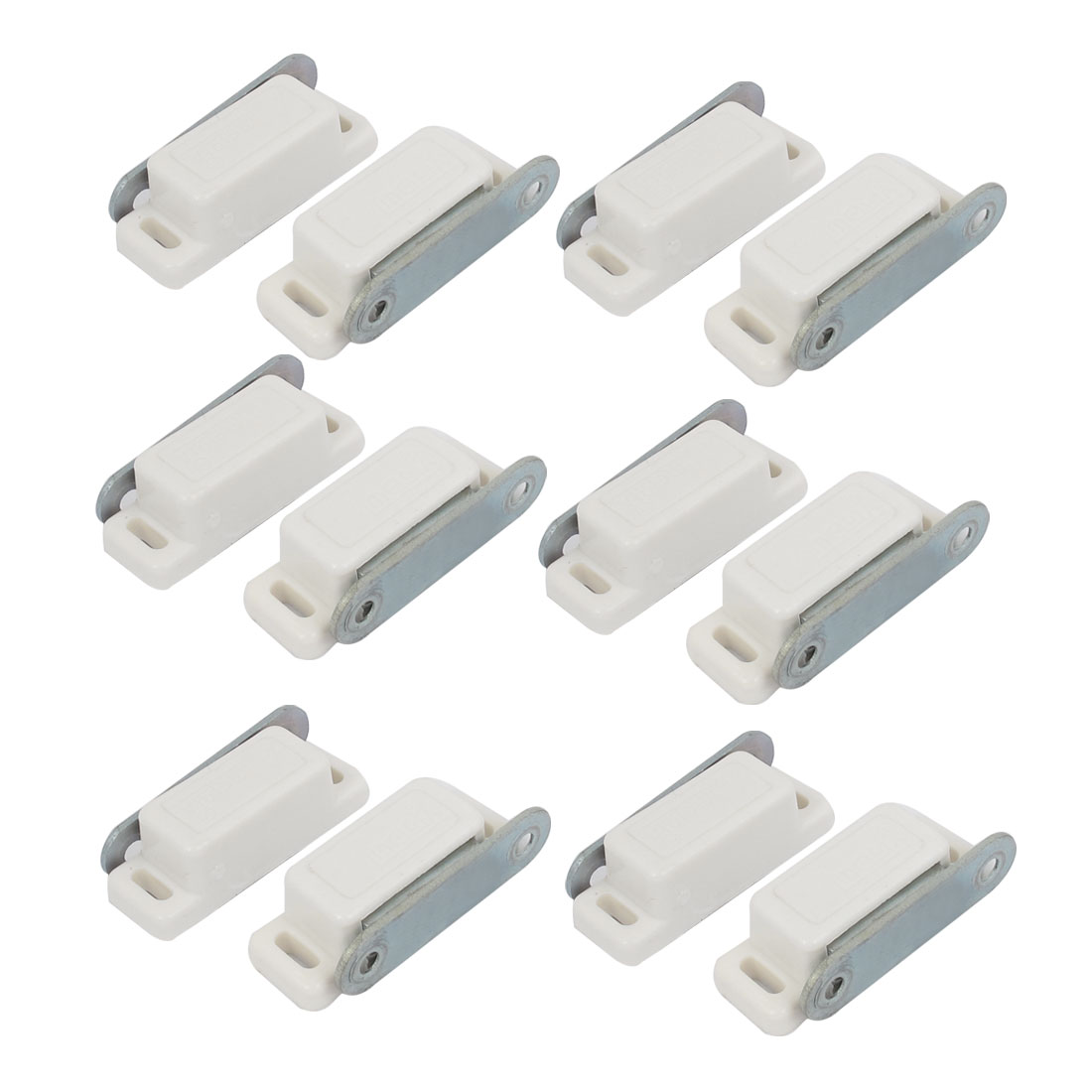 Door Cabinet Cupboard Furniture White Plastic Shell Magnetic Catch Latch 12pcs