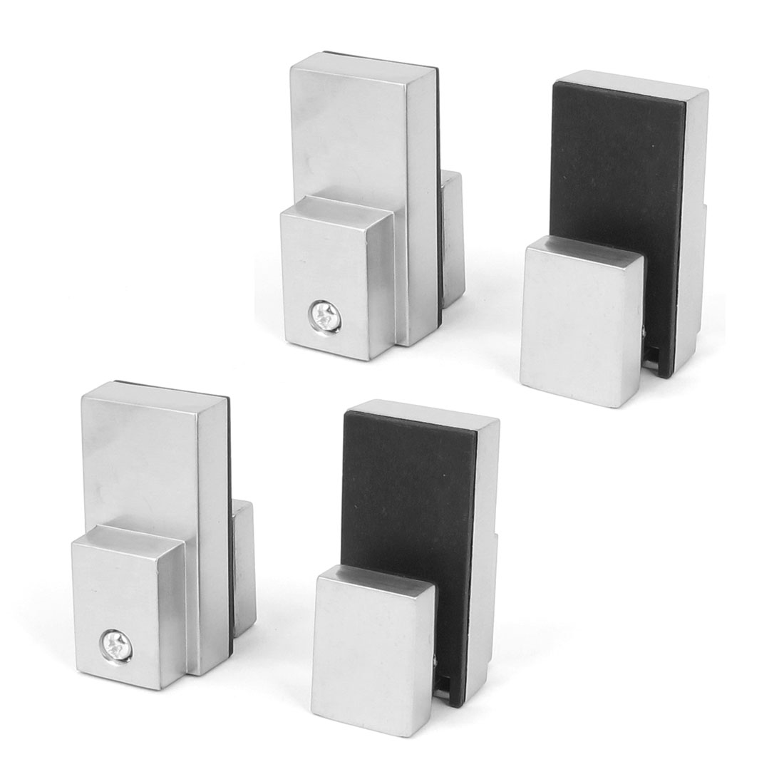 Adjustable 3mm-14mm Thick Glass Shelf Metal Clip Clamp Support Bracket 4pcs