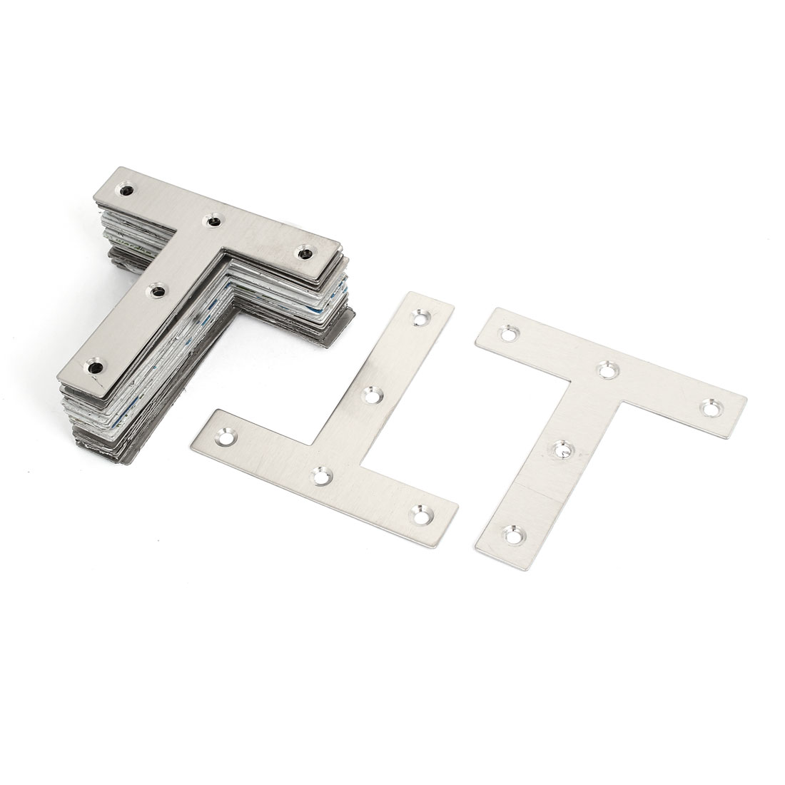 30 Pcs 80mmx80mmx16mm Metal T Shaped Flat Plate Corner Brace Angle Brackets