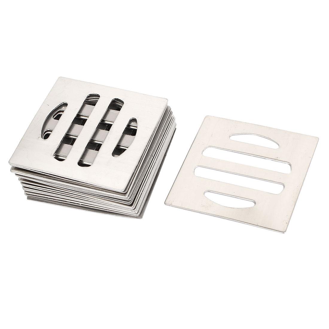 Bathroom Kitchen Shower Square Metal Floor Drain Strainer 50mm Length 20pcs