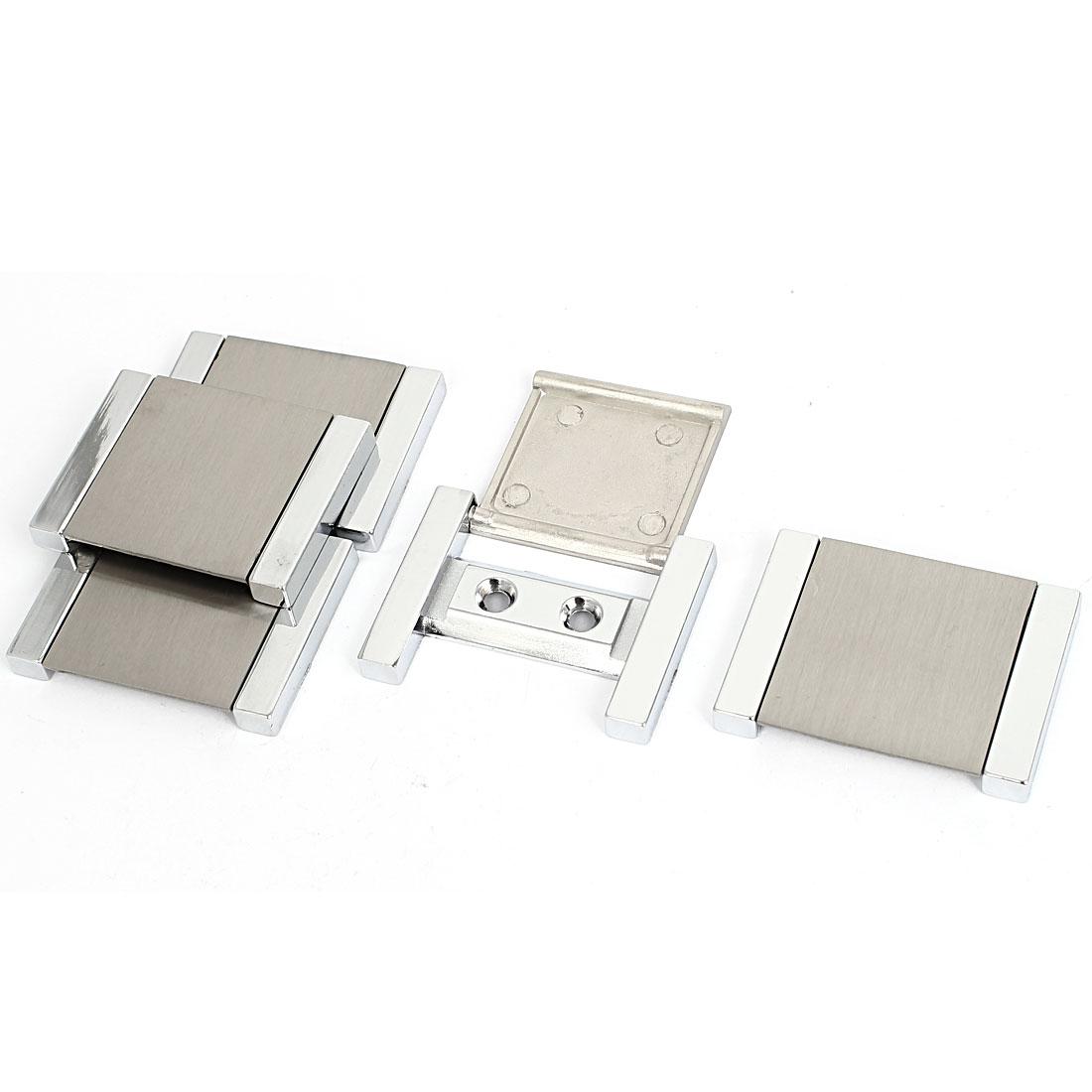 Cabinet Drawer Zinc Alloy Rectangle Pull Handle 4cm x 5cm 5pcs