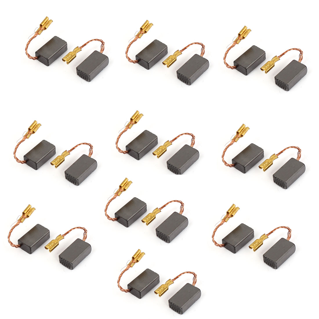 14mm x 8mm x 5mm Motor Carbon Brushes 20 Pcs for Generic Electric Motor