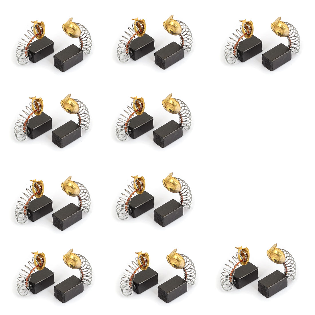 13mm x 8mm x 6mm Motor Carbon Brushes 20 Pcs for Generic Electric Motor