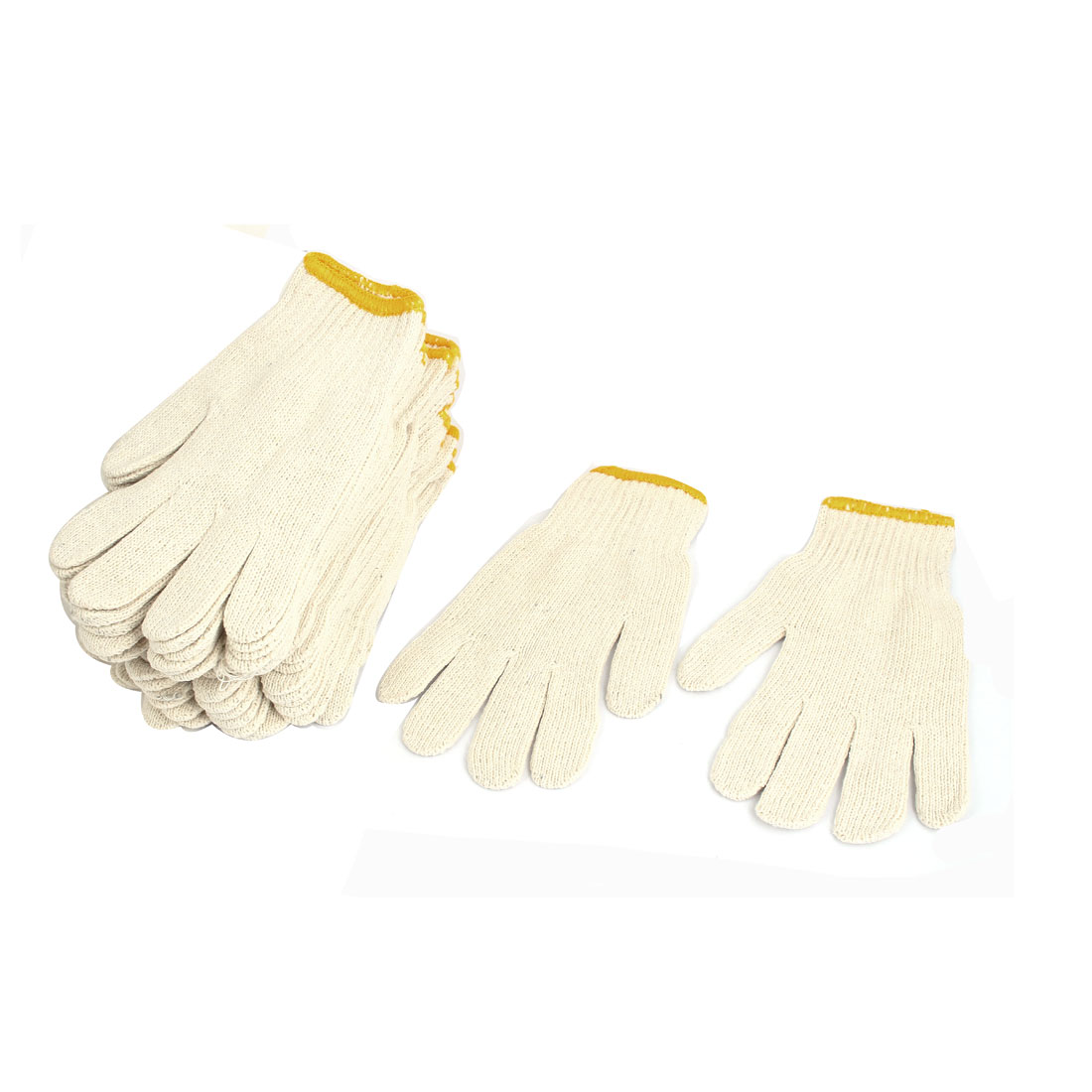 12 Pairs Protective ESD Anti-static Cotton Yarn Working Gloves for Industrial Warehouse