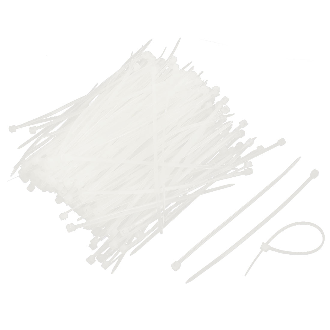2mm x 100mm Self-locking Nylon Cable Zip Wire Tie White 1000 Pcs