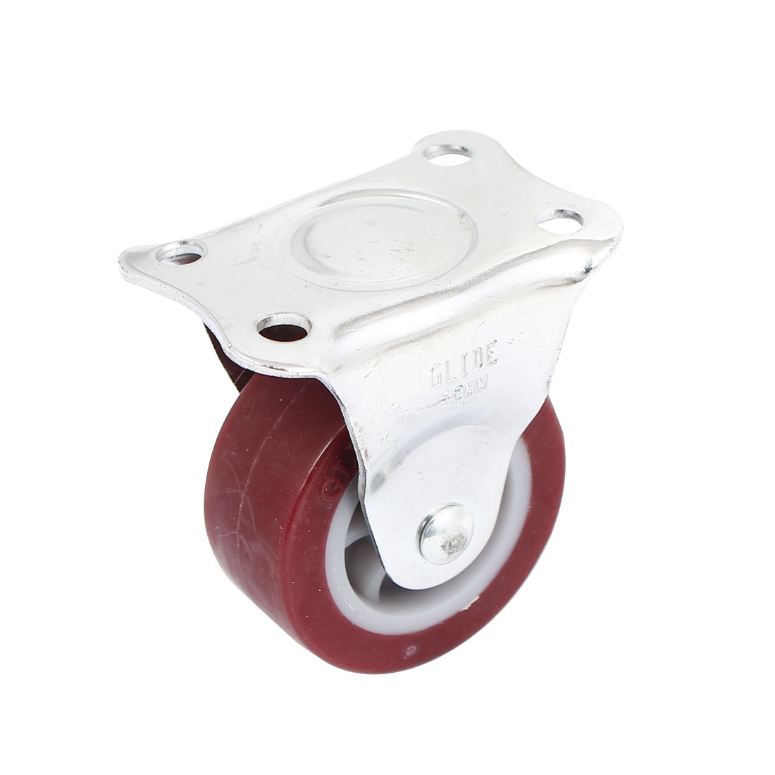 50mm x 22mm Hard Rubber Base Metal Top Plate Bearing Caster Wheels