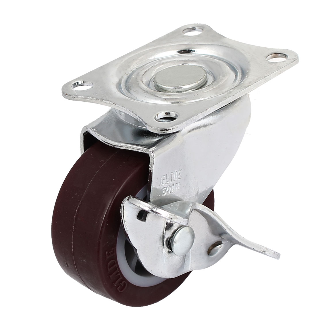 50mm Hard Rubber Base Metal Top Plate Bearing Caster Wheels