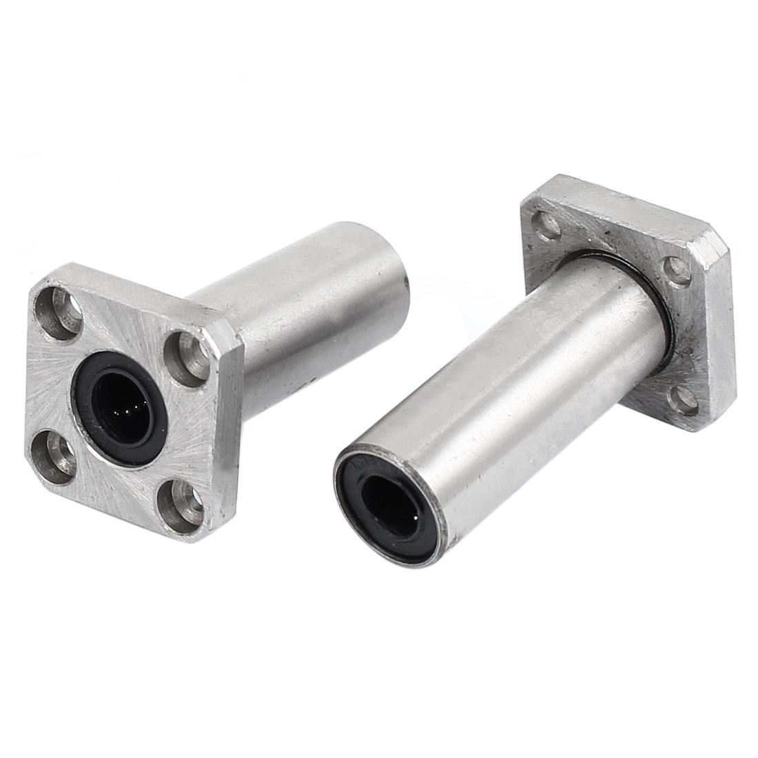 45mm x 25mm x 15mm LMF K8LUU Square Flange Linear Motion Bearing 2 Pcs