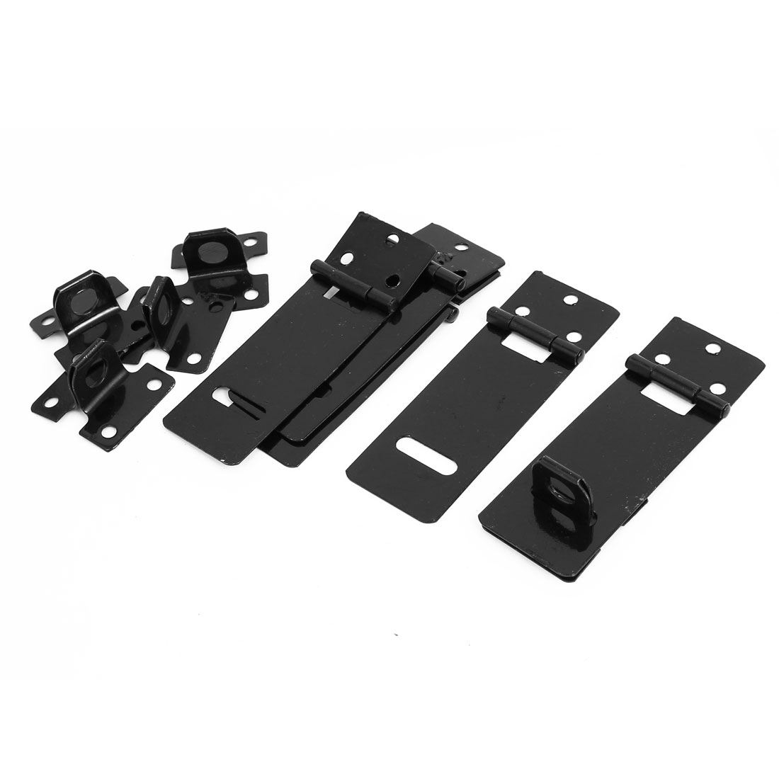 31mm x 95mm Metal Rectangle Gates Door Mate Latch Hasp Staple 5 Sets