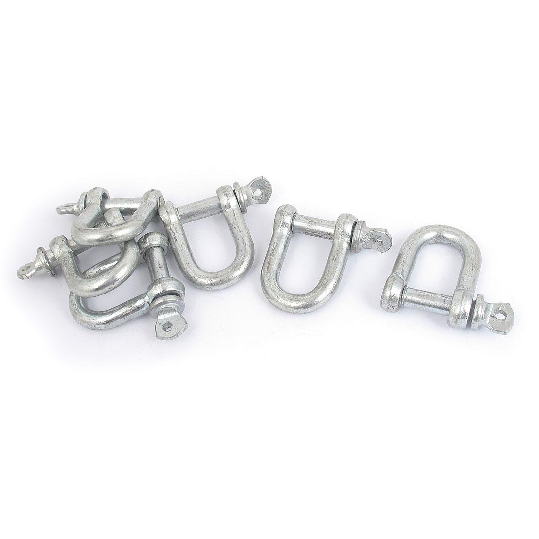 40mm x 34mm x 6mm Metal D Shackle U Lock Wire Rope Fastener 6 Pcs
