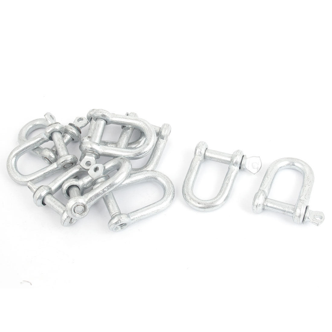 33mm x 23mm x 5mm Metal D Shackle U Lock Wire Rope Fastener 10 Pcs