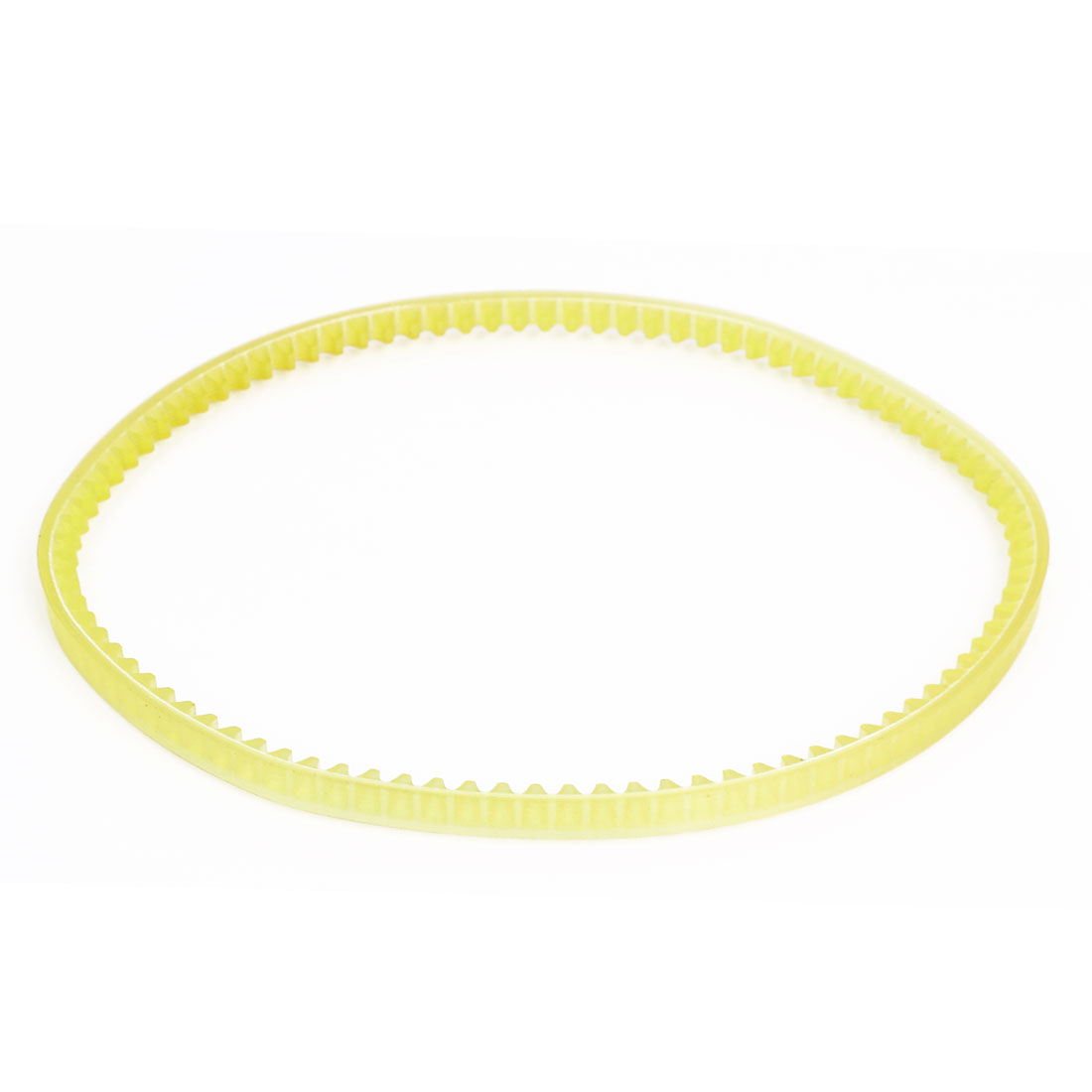 370mm Girth 6mm Width Rubber Single Side Mechine Timing Pulley Belt Yellow