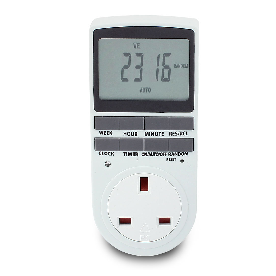 AC 230V UK Plug Digital Electronic Programmable Timer UK Socket Time Switch