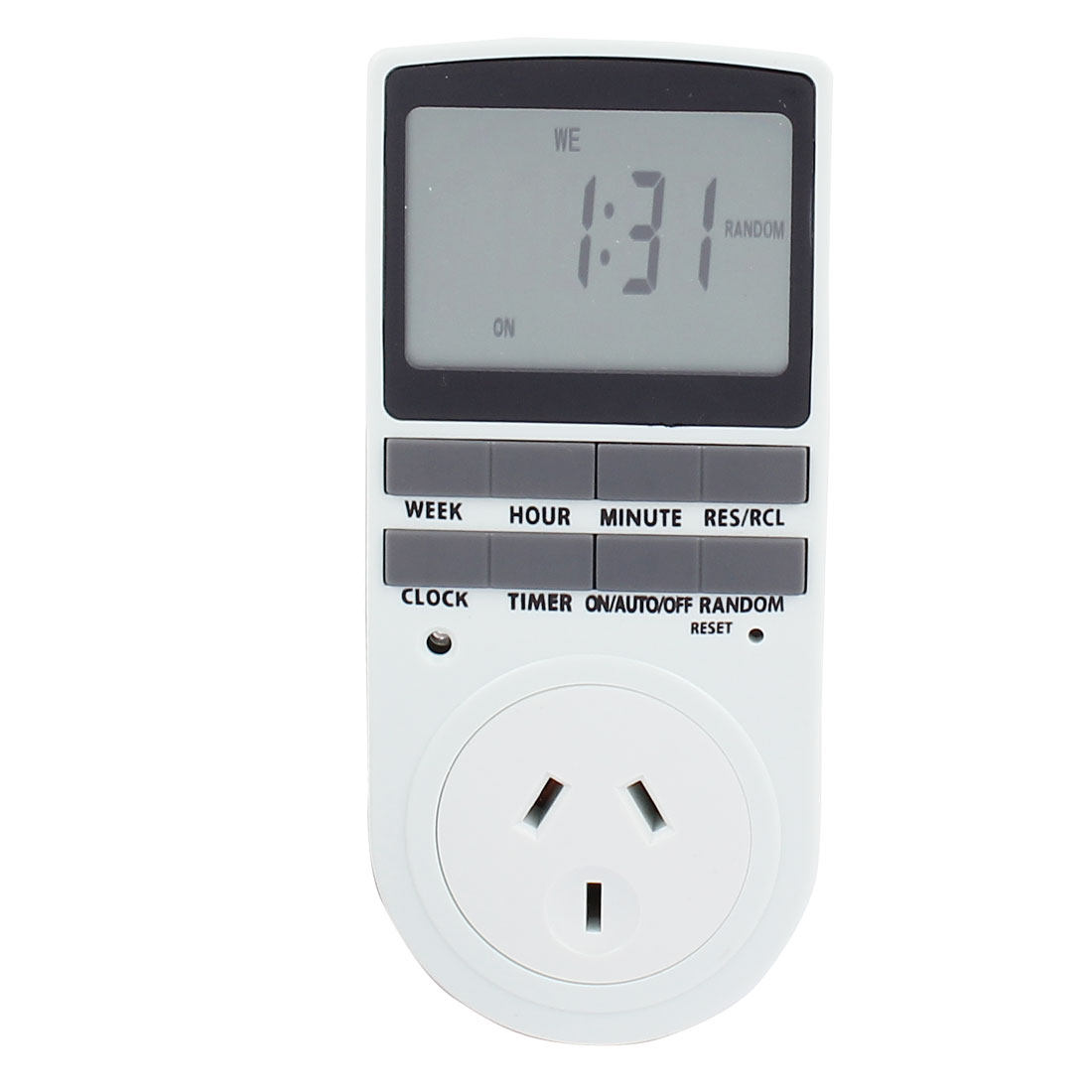 AC 240V AU Plug LCD Display Electronic Programmable Timer AU Socket Time Switch