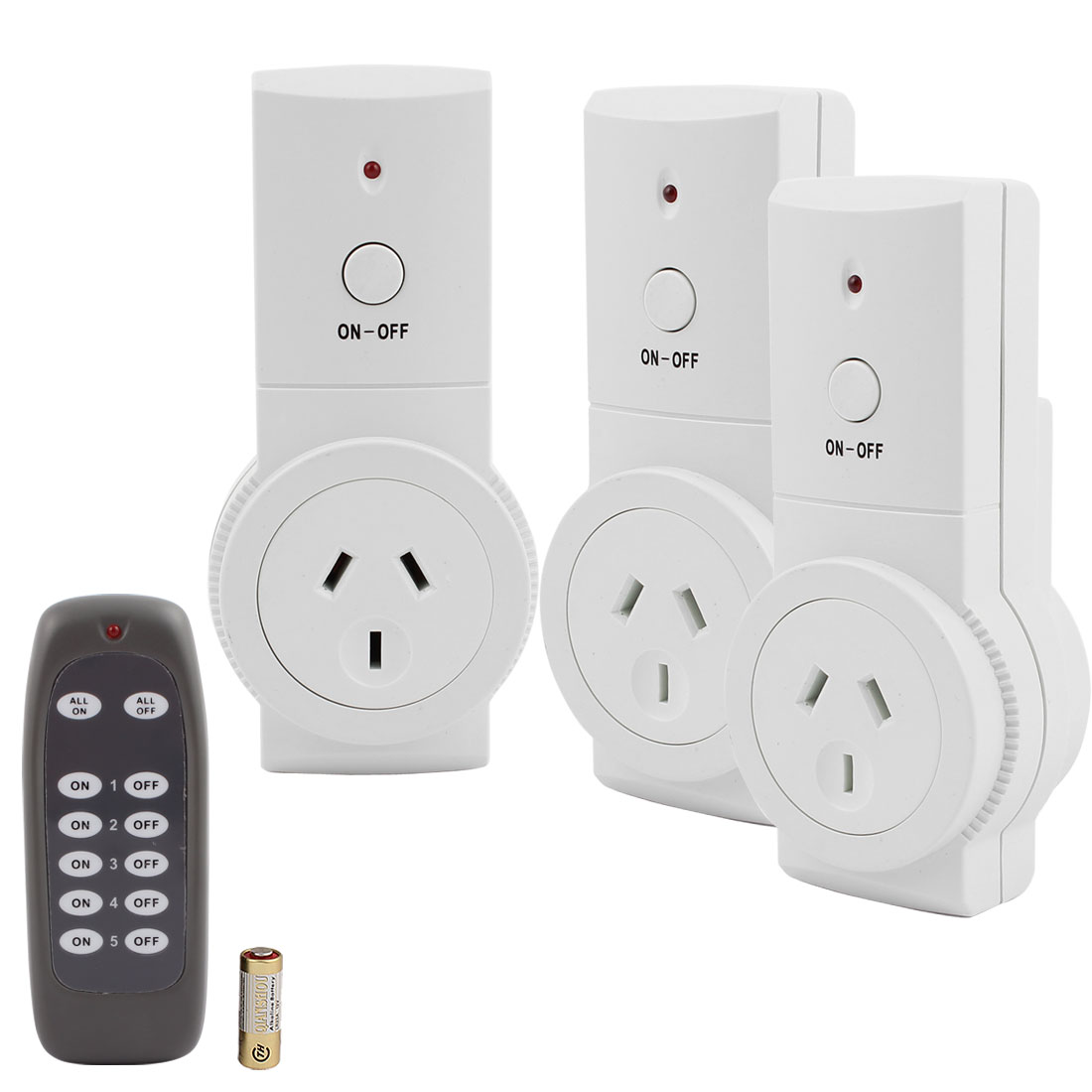 3 Pcs Wireless Power AU Sockets Switches Outlets AU Plug 240VAC Home Mains w 1 Remote Control