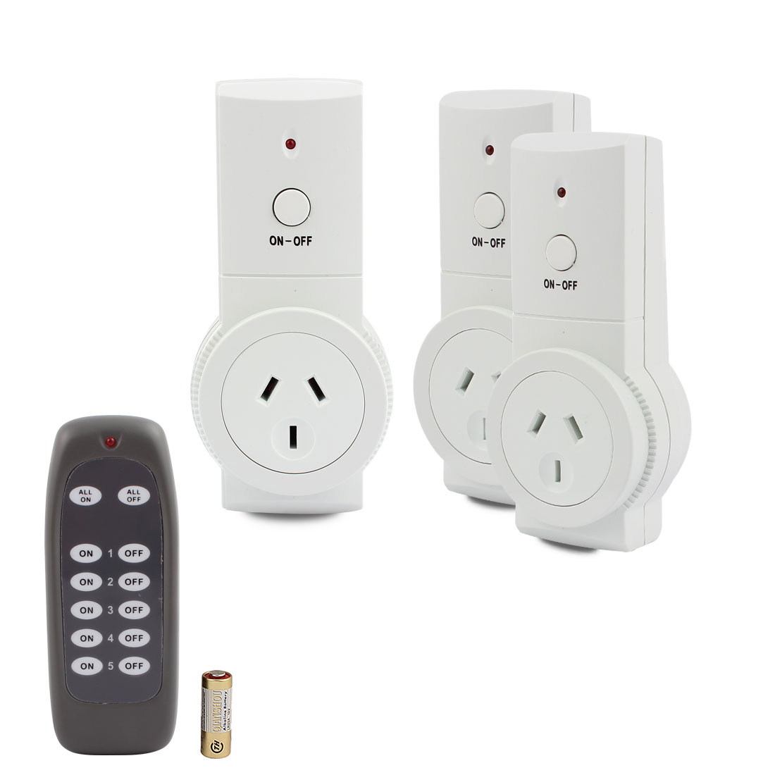 2 Pcs Wireless Power AU Sockets Switches Outlets AU Plug 240VAC Home Mains w 1 Remote Control