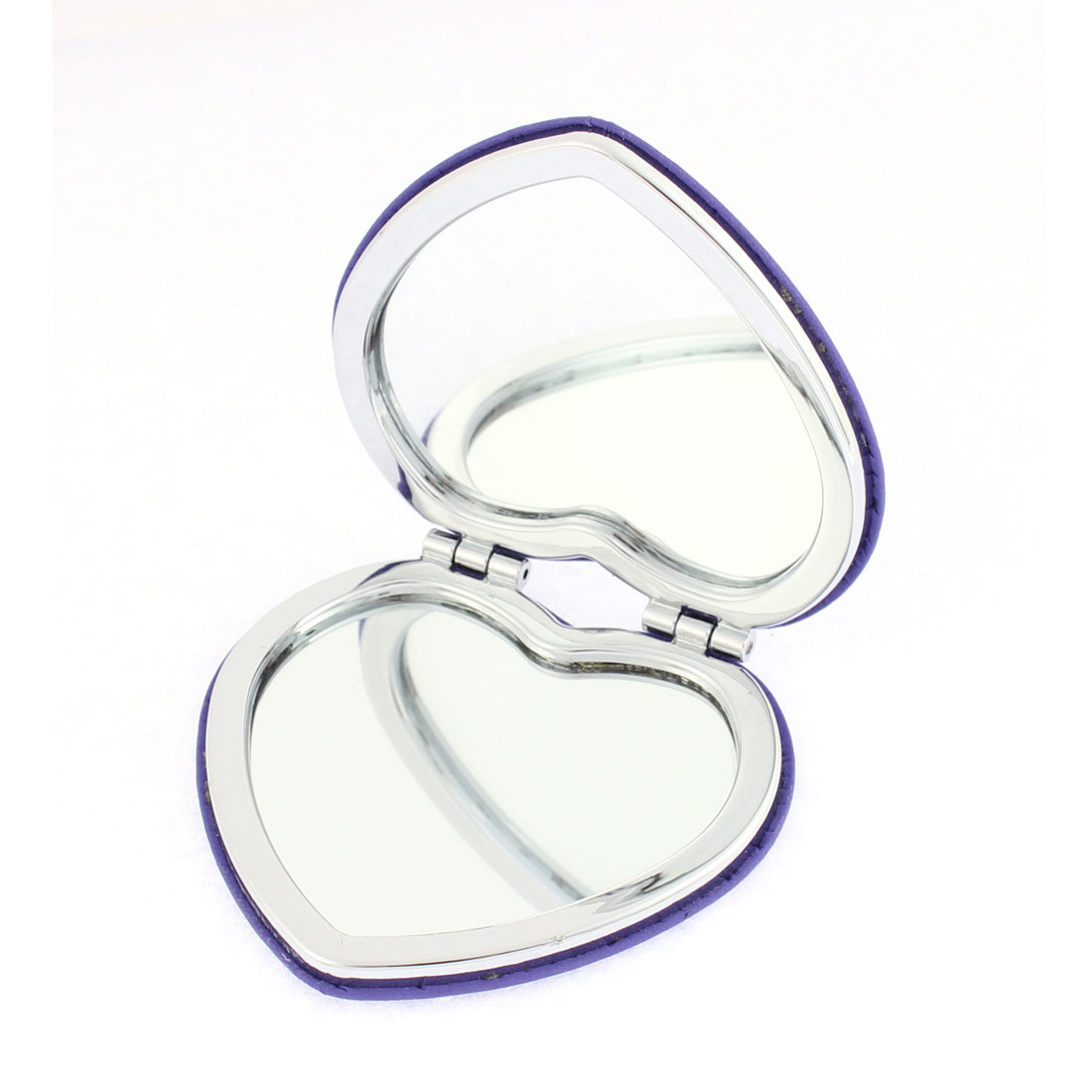 Heart Shaped Eiffel Tower Decor Dual Side Folding Cosmetic Compact Mirror