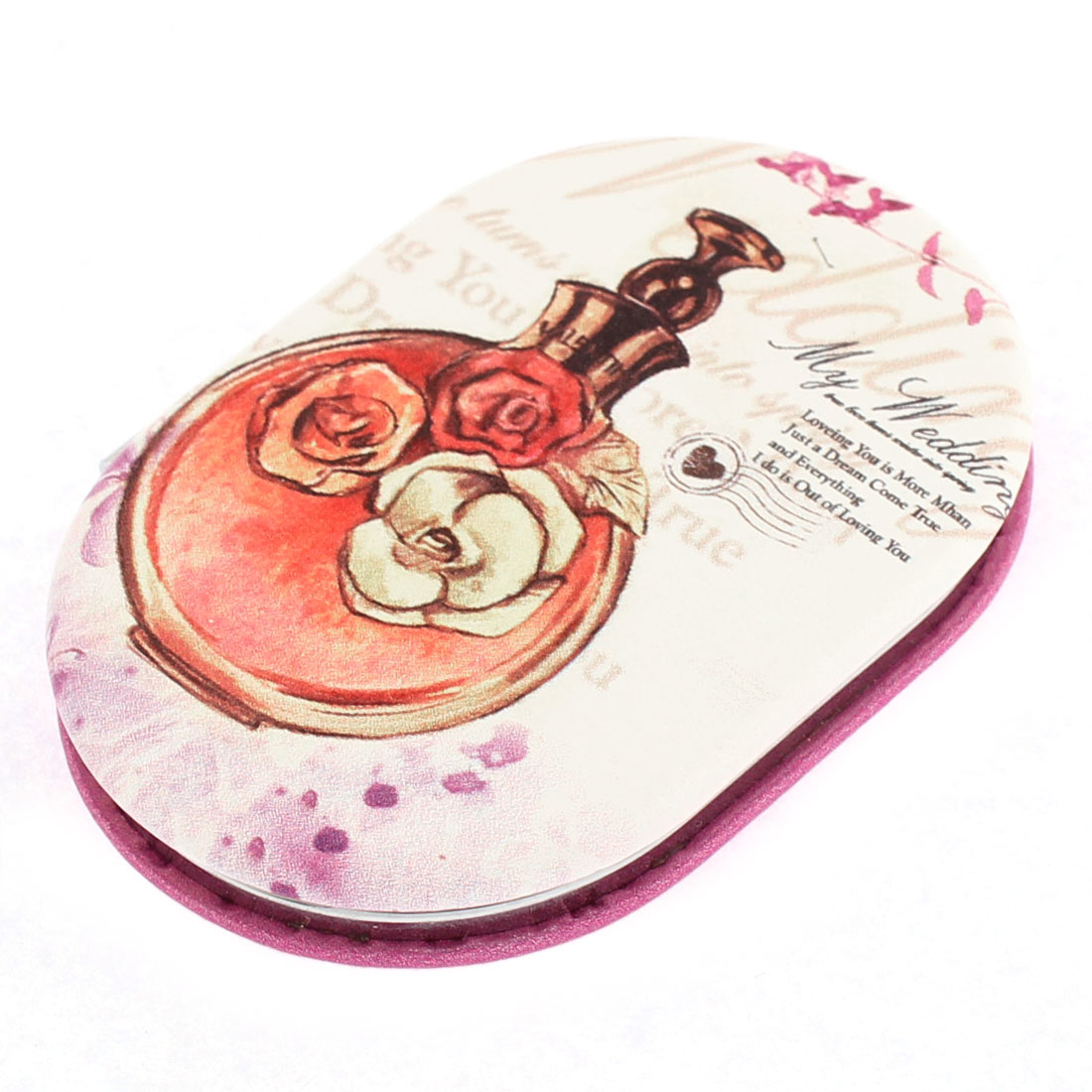 Oval Shaped Double Side Magnify Pocket Makeup Cosmetic Compact Mirror