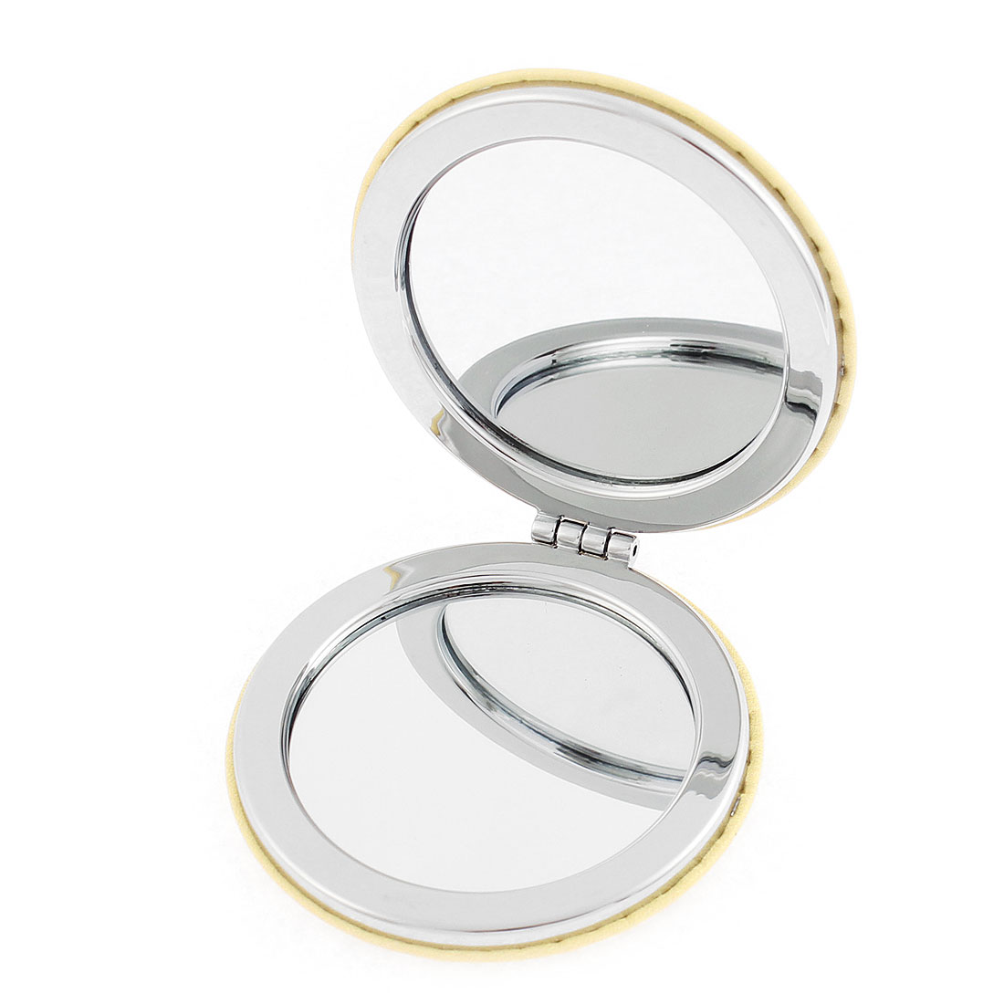 Round Shaped Lip Letter Pattern Magnify Folding Pocket Cosmetic Compact Mirror