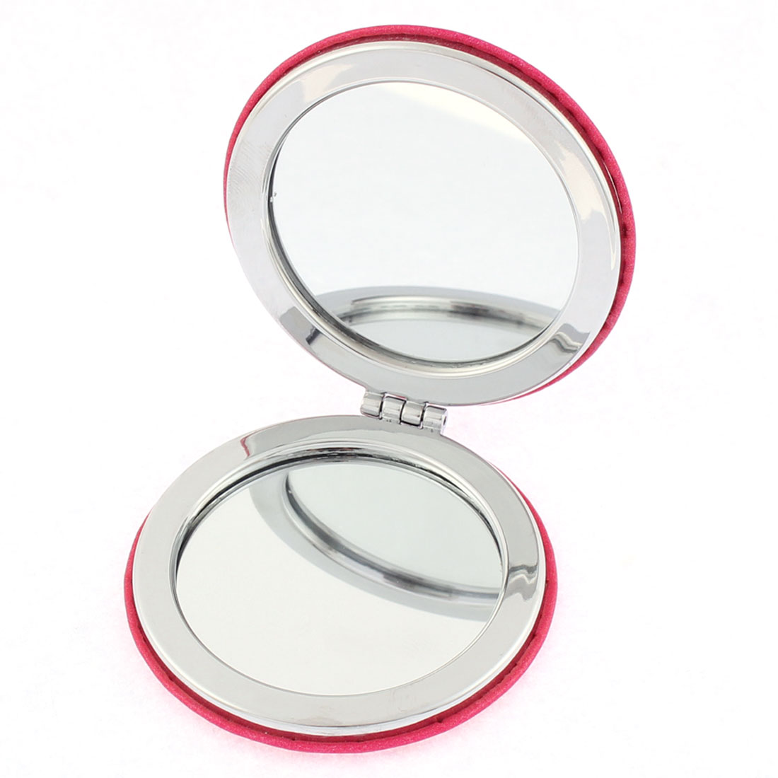 Round Shaped Lip Pattern Double Side Folding Pocket Cosmetic Compact Mirror