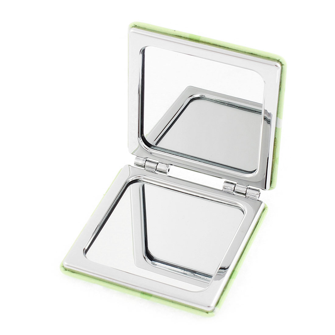 Square Shaped Dual Side Tree Pattern Magnify Folding Cosmetic Compact Mirror