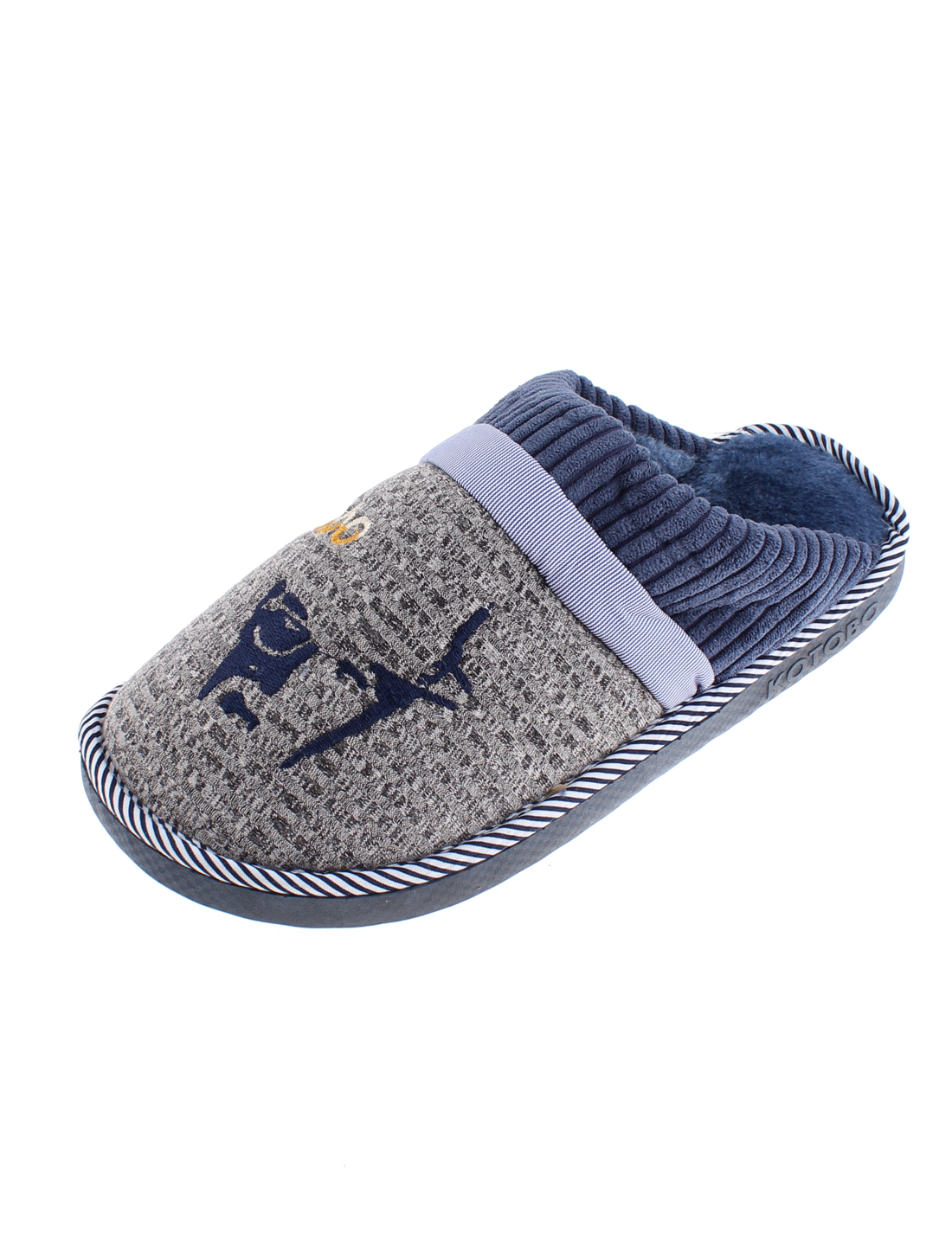 Winter Women Wearing Non-skid Sole Warmer Cotton Slippers Blue US 8.5