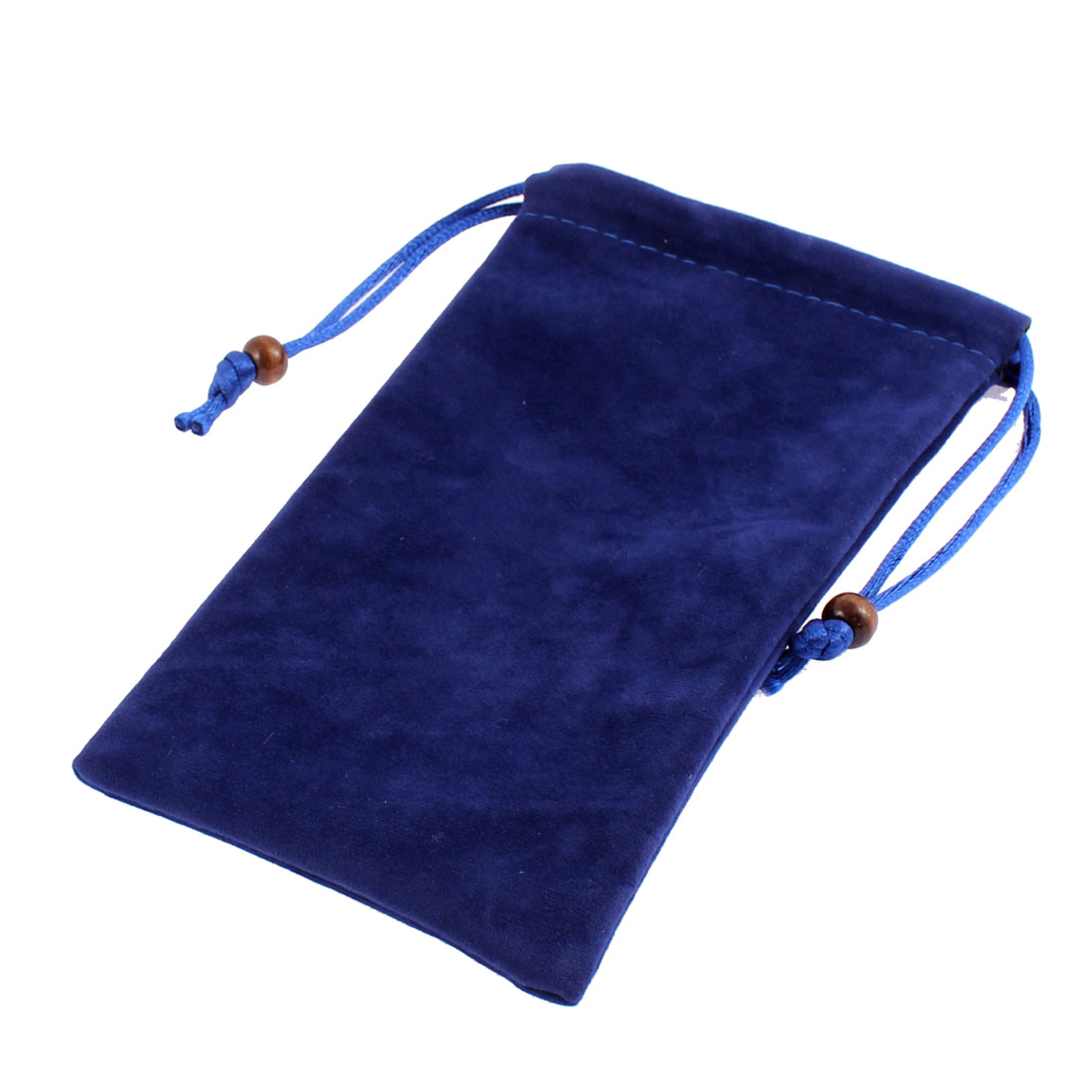 Velvet Drawstring Closure Cell Phone Pouch Sleeve Bag Royal Blue 15.5 x 9.5cm