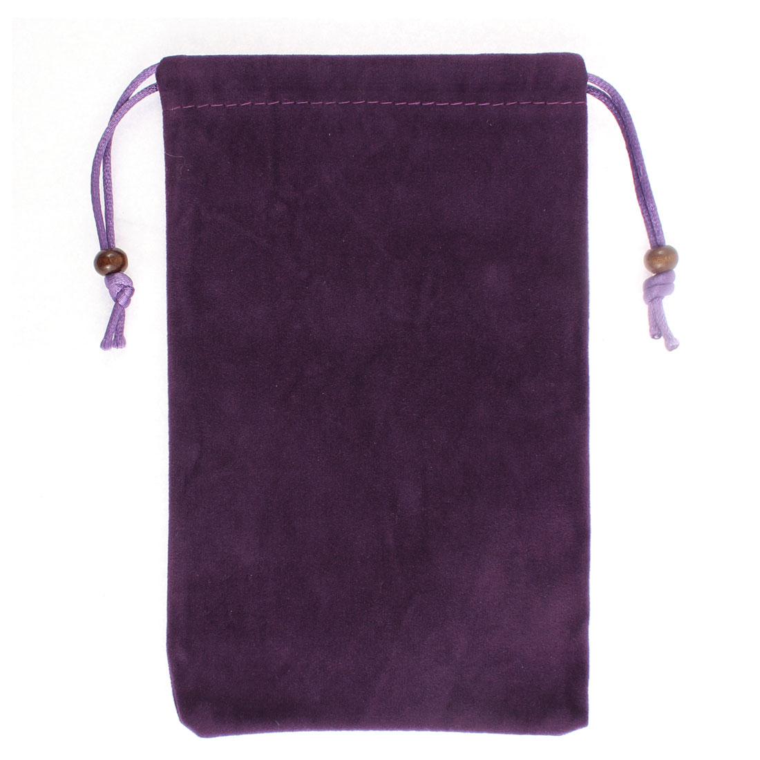 Drawstring Closure Sundries Money Cards Cell Phone Pouch Sleeve Bag Dark Purple