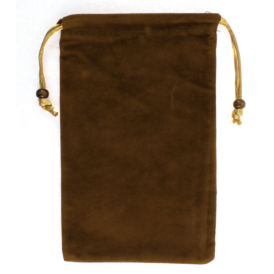 Rectangle Shaped Drawstring Cell Phone Pouch Sleeve Bag Chocolate Color