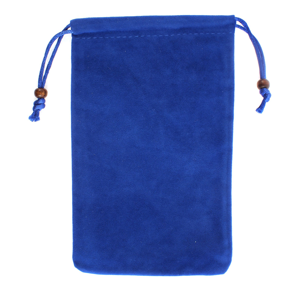 Velvet Drawstring Closure Cell Phone Pouch Holder Bag Royal Blue 18x11.5cm