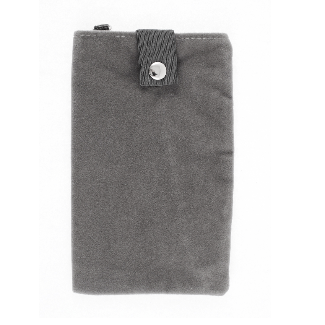 Velvet Dual Layer Mobilephone Cell Phone Pouch Sleeve Bag Dark Gray 18x11cm