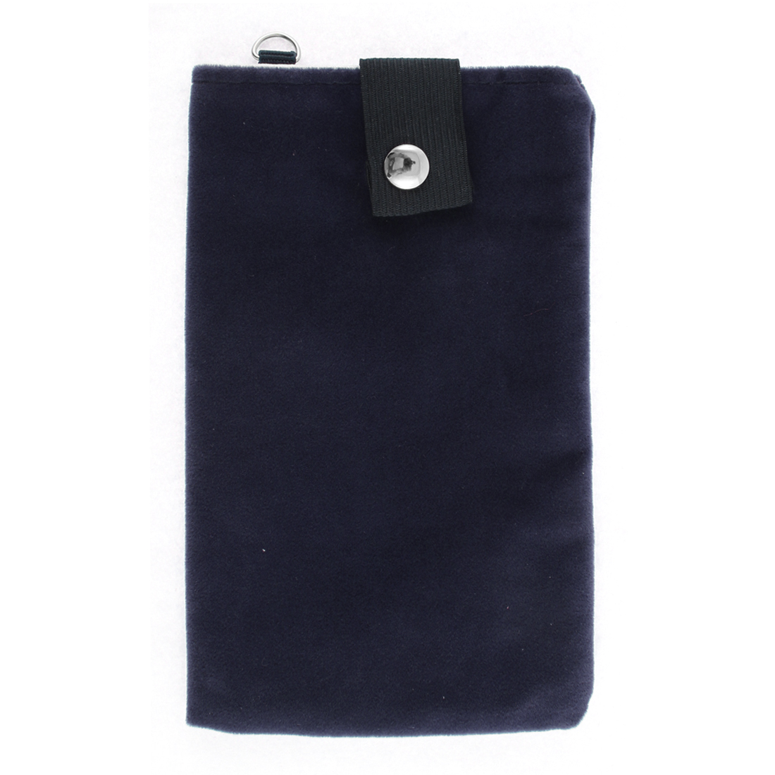 Rectangle Shaped Dual Layer Cell Phone Pouch Sleeve Bag Dark Blue 18x11cm