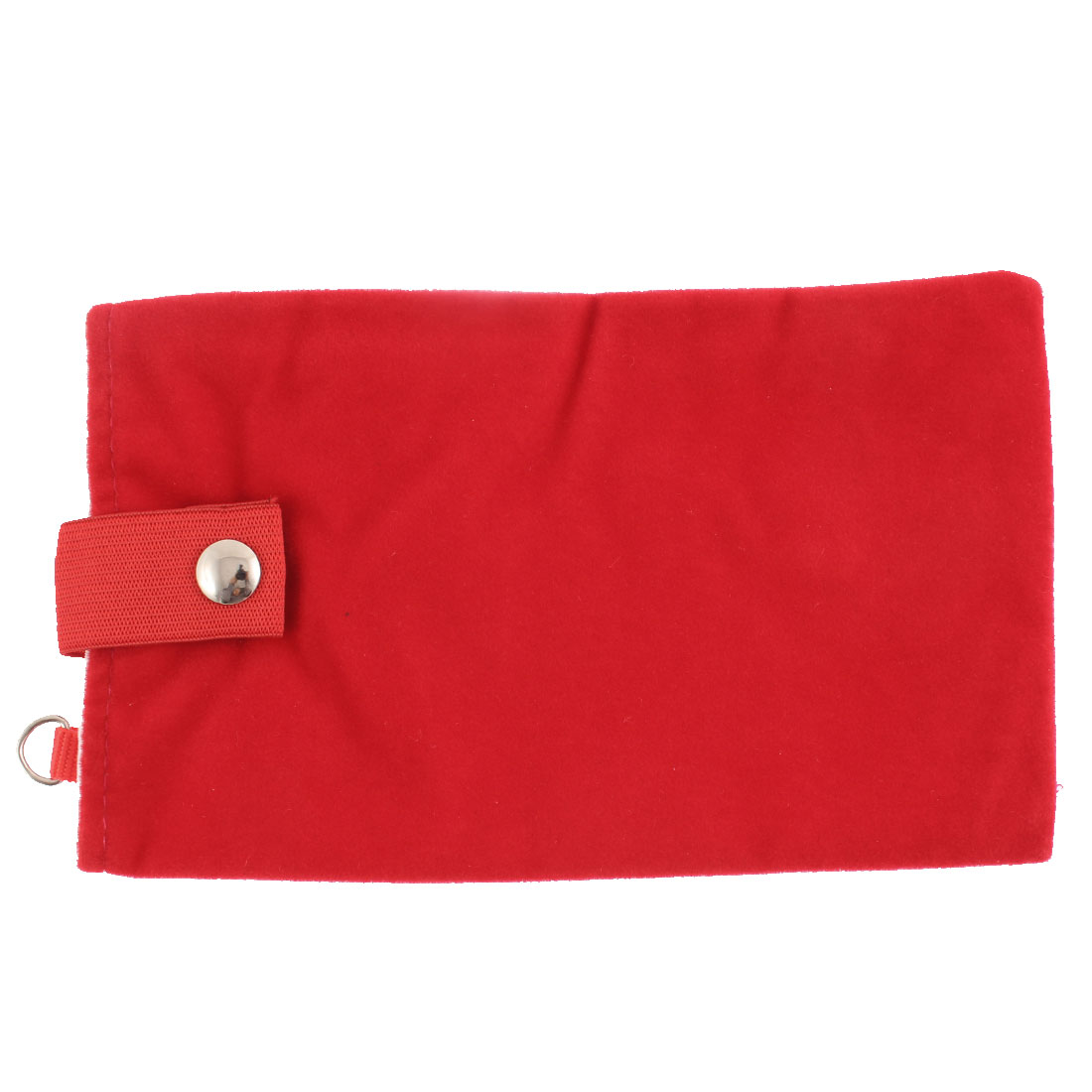 "Magnetic Clasp Button Cell Phone Coin Pouch Sleeve Bag Holder Red 7"" Length"