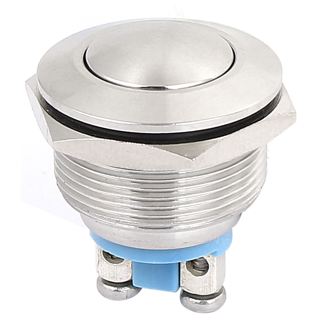22mm Dia Metal SPST Momentary Pushbutton Switch Panel Mount Round Head