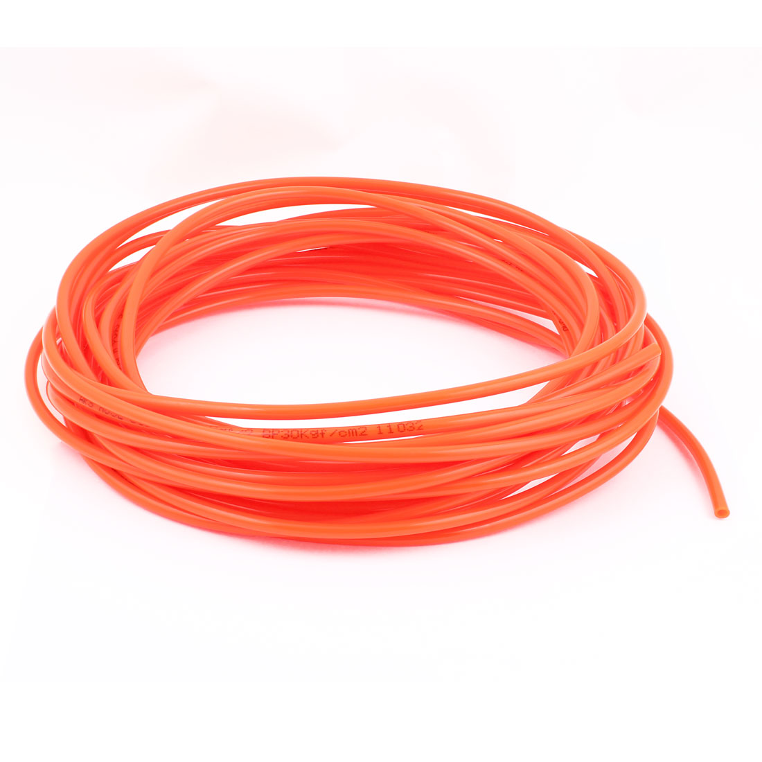 6mm x 4mm Orange Red Pneumatic Polyurethane Hose PU Tube 15M 49.2Ft
