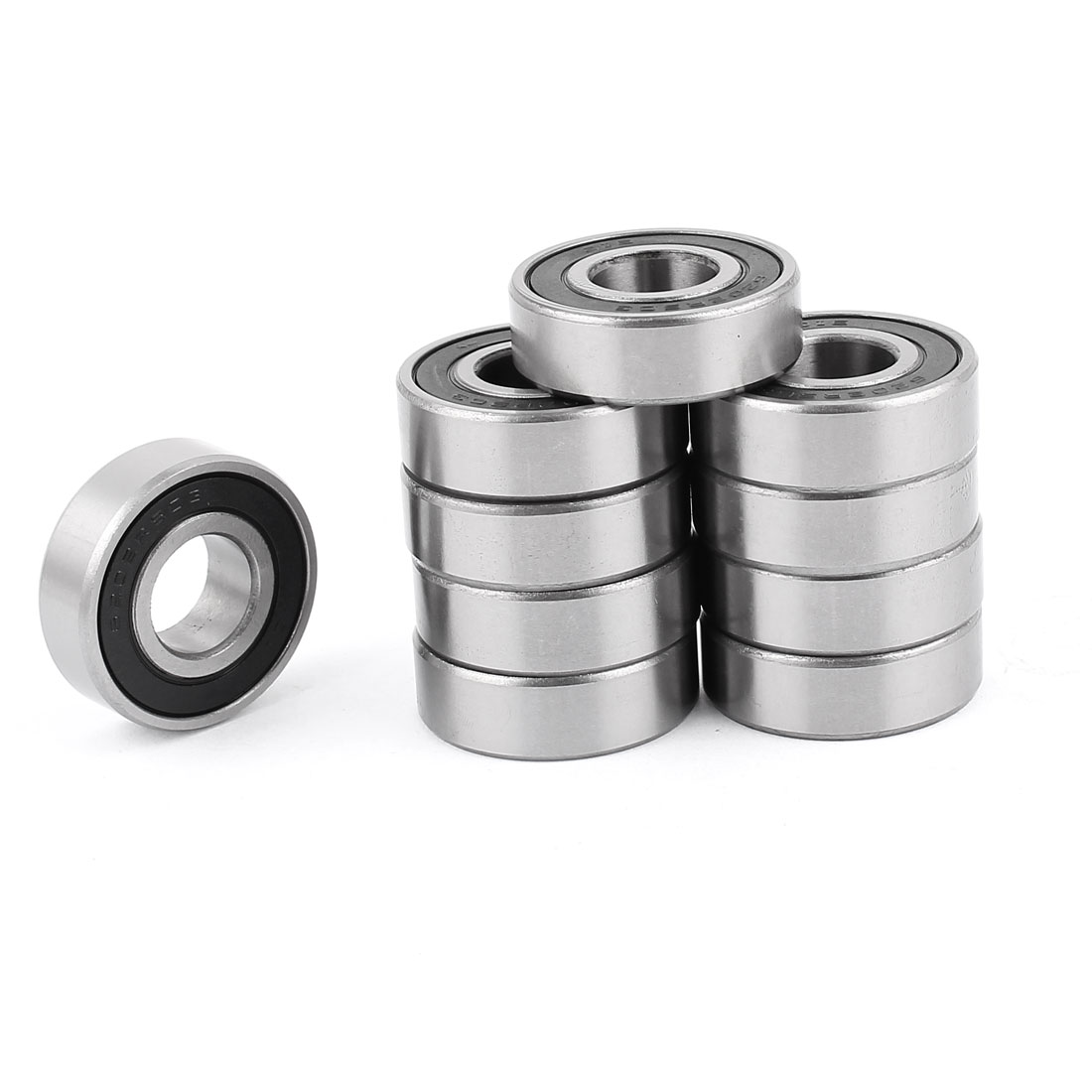 6202RSC3 Deep Groove Ball Bearing Replacement 10 Pcs for Roller-skating Sport