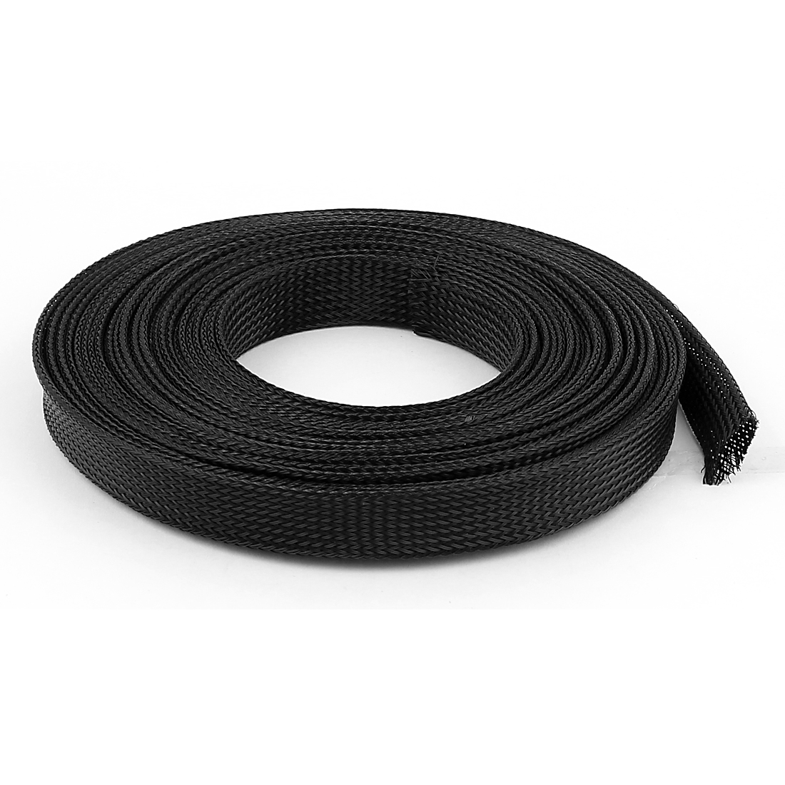 20mm Diameter 10m Length Black Wire Polyester Expandable Cable Sleeve