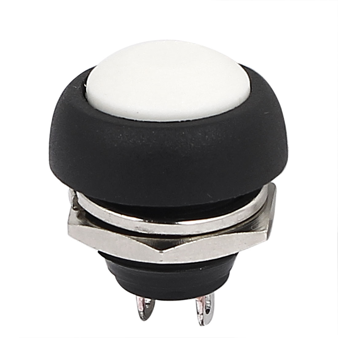 12mm Mini Waterproof Pushbutton Switch Momentary Type White Plastic Head