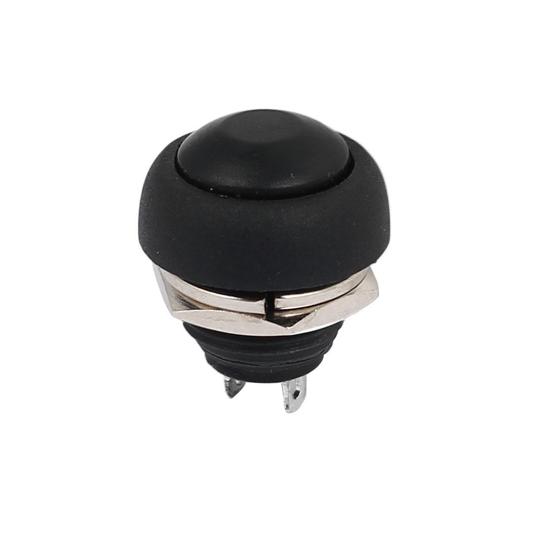 12mm Mini Waterproof Pushbutton Switch Momentary Type Black Plastic Head