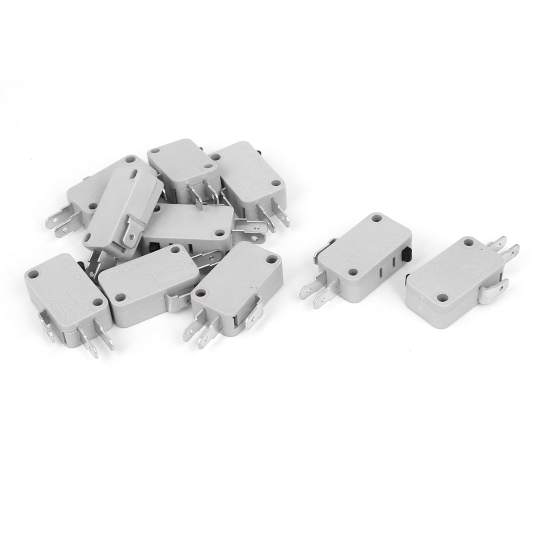 10 Pcs 250V 16A Snap Action Push Button SPDT Momentary Micro Limit Switch
