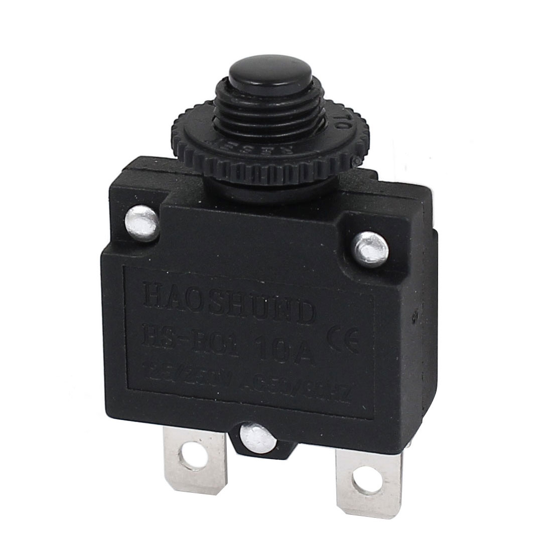 AC 125/250V 10A Circuit Breaker Current Overload Protector Switch Black