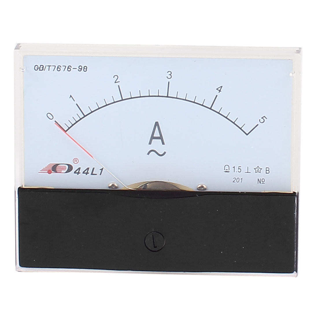 44L1 Pointer Needle AC 0-5A Current Tester Panel Analog Ammeter 100mm x 80mm
