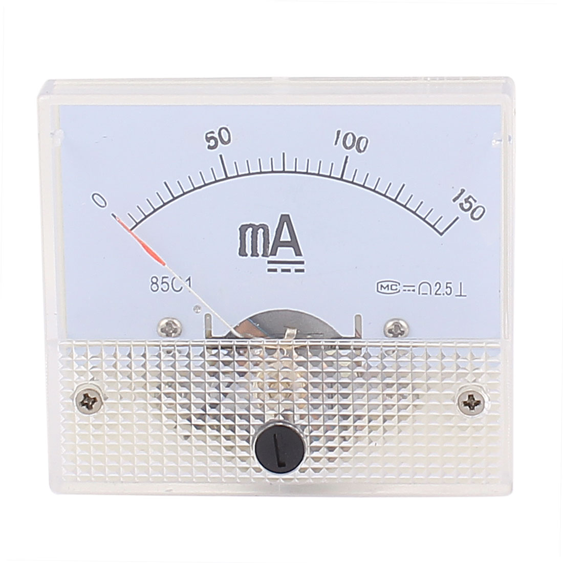 85C1 Pointer Needle DC 0-150mA Current Tester Panel Analog Ammeter 65mm x 56mm