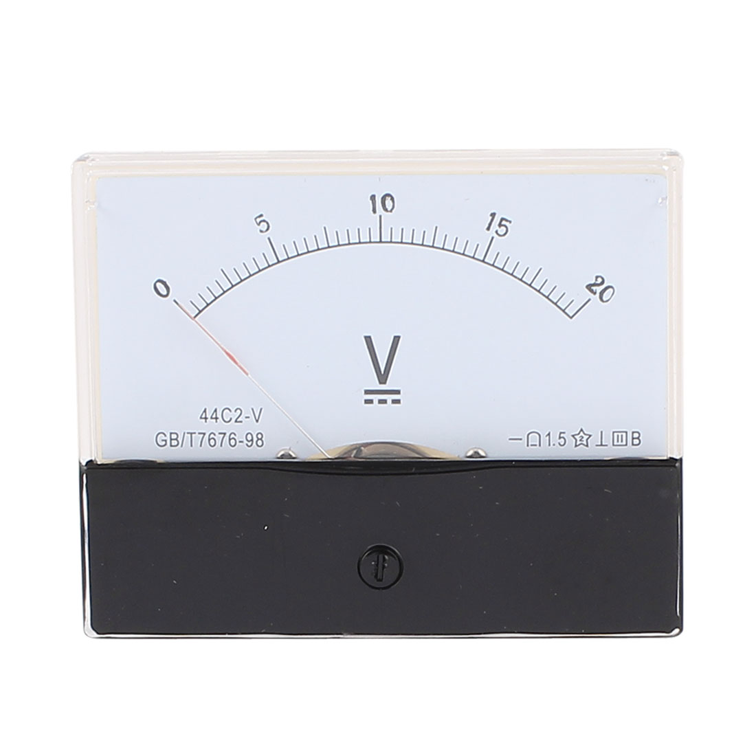 44C2 Pointer Needle DC 0-20V Volt Tester Panel Analog Voltmeter 100mm x 80mm