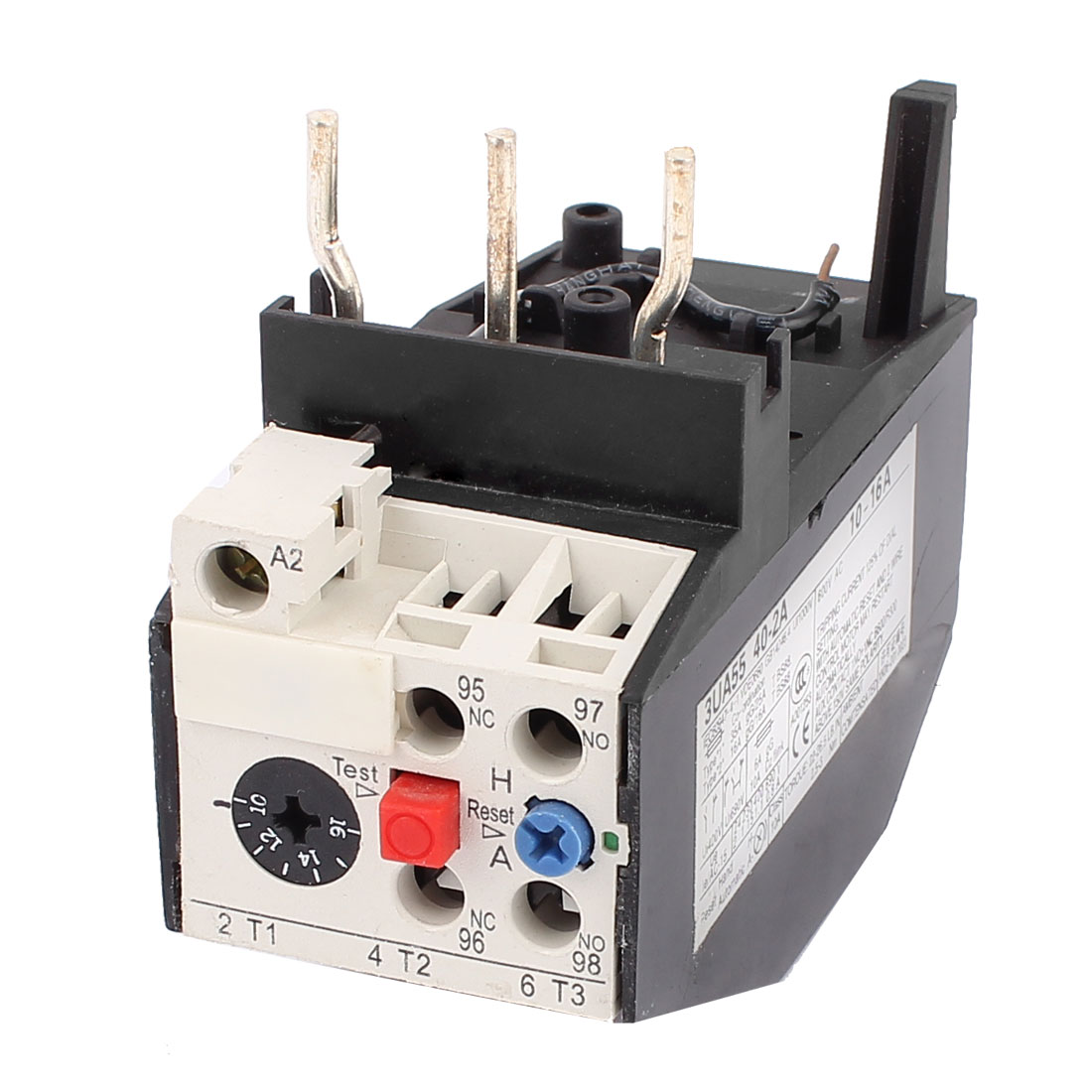 3UA55 40-2A 10-16A 2NO 2NC Adjustable Motor Protector Electric Thermal Overload Relay